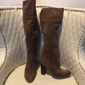 bcf77ce18f7 Michael Kors Regina camel over knee suede boot